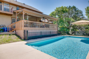 View from Pool to Back Deck
